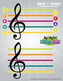 Boomwhackers Color-Treble Clef