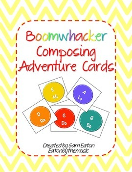 Boomwhacker Composing Adventure Cards