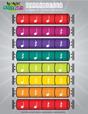 Boomwhackers Ensemble Conductor Score - Color Coded