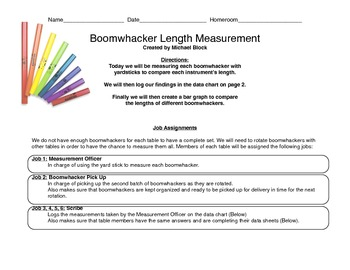 Boomwhacker Measuring, Logging and Graphing Project!
