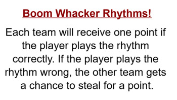 Boomwhacker Rhythms!