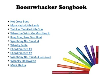 Boomwhacker Songbook