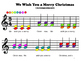 Boomwhacker Songbook Christmas Edition - Printouts