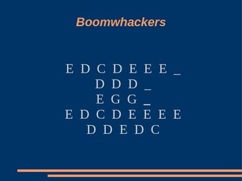 Boomwhacker Songs PowerPoint