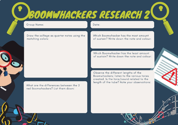 Boomwhackers Research Worksheet 2