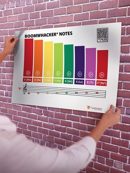 Music: Boomwhackers Tube Color Chart (Interactive PDF)