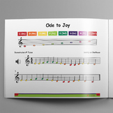 Boomwhackers® Tube Sheet Music: Ode to Joy (Ludwig van Beethoven)