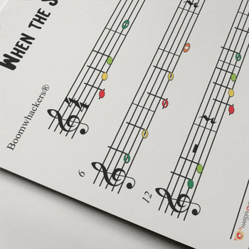 Boomwhackers® Tube Sheet Music: When The Saints Go Marching In