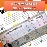 Boomwhackers music staff banner