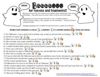 Boooooo for run-ons and fragments!!