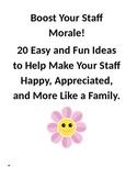 Boosting Staff Morale