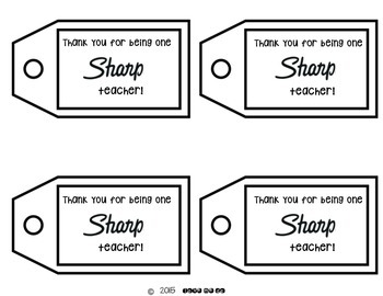 Boosting Teacher Morale: A Sharpie Gift Tag