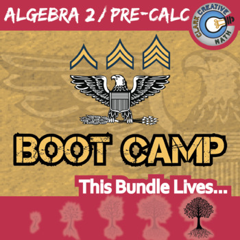 Boot Camp -- ALGEBRA 2 / PRE-CALCULUS BUNDLE -- 8 Differentiated Practice Sets!