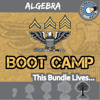 Boot Camp -- ALGEBRA CURRICULUM BUNDLE -- 10 Differentiated Practice Sets!