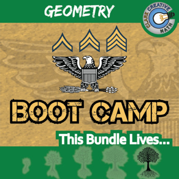 Boot Camp -- GEOMETRY CURRICULUM BUNDLE -- 10 Differentiated Practice Sets!