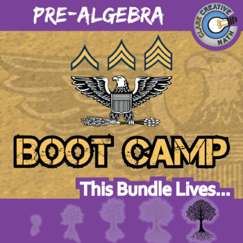 Boot Camp -- PRE-ALGEBRA BUNDLE -- 12 Differentiated Practice Sets!