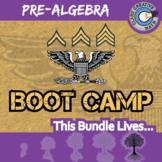 Boot Camp -- PRE-ALGEBRA CURRICULUM BUNDLE -- 10 Differentiated Practice Sets!