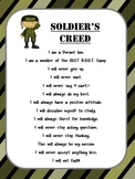 Boot Camp Test Prep Soldier's Creed *Editable*