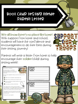 Boot Camp Testing Theme Parent Letter