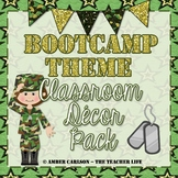Boot Camp Theme Classroom Decor Pack {with glitter!} *EDITABLE*