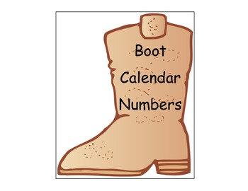 Boot Number Cards/Calendar Cards
