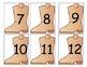 Boot Number Cards/Calendar Cards
