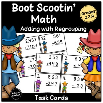 Boot Scootin Math (adding with regrouping)