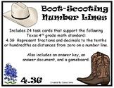 Boot-Scooting Number LInes (TEKS 4.3G) STAAR Practice