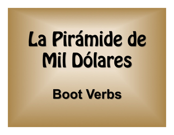 Spanish Boot Verb $1000 Pyramid Game