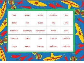Boot Verb Bingo (Spanish 2)