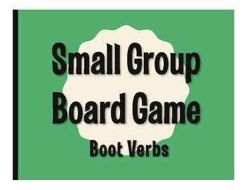Spanish Boot Verb Board Game