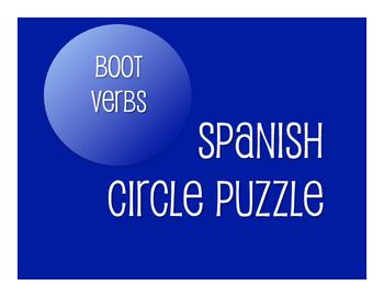 Spanish Boot Verb Circle Puzzle