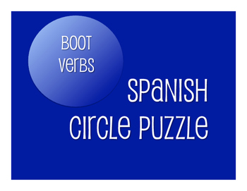 Spanish Boot Verb Circle Puzzle