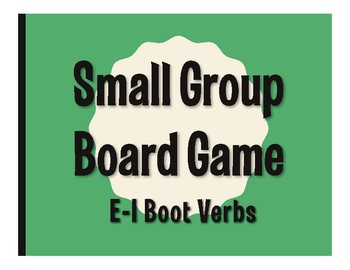 Spanish E-I Boot Verb Board Game