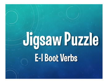 Spanish E-I Boot Verb Jigsaw Puzzle