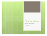 Spanish E-I Boot Verb Notes
