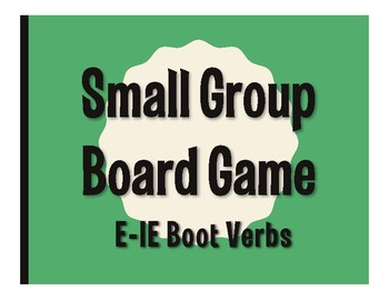 Spanish E-IE Boot Verb Board Game