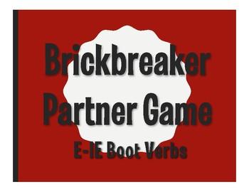 Spanish E-IE Boot Verb Brickbreaker Partner Game