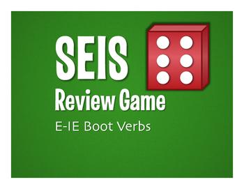 Spanish E-IE Boot Verb Seis Game