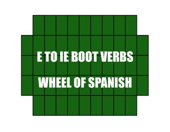 Spanish E-IE Boot Verb Wheel of Spanish