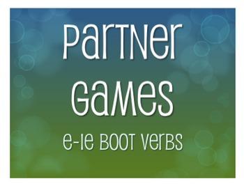Spanish E-IE Boot Verb Partner Games