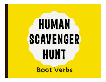 Spanish Boot Verb Human Scavenger Hunt