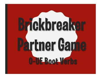 Spanish O-UE Boot Verb Brickbreaker Partner Game