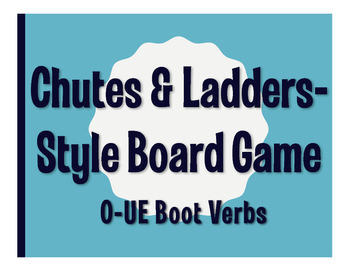 Spanish O-UE Boot Verb Chutes and Ladders-Style Game