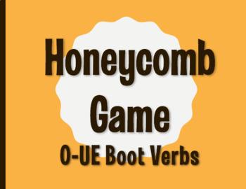 Spanish O-UE Boot Verb Honeycomb Partner Game