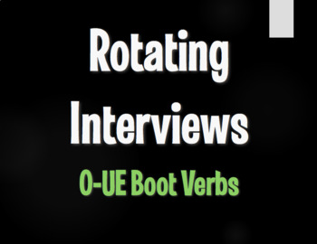 Spanish O-UE Boot Verb Rotating Interviews