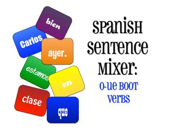 Spanish O-UE Boot Verb Sentence Mixer