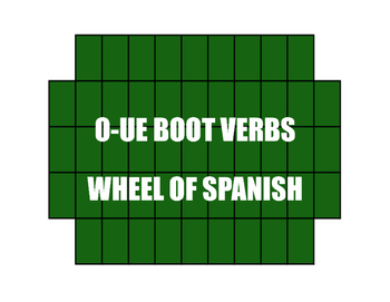 Spanish O-UE Boot Verb Wheel of Spanish