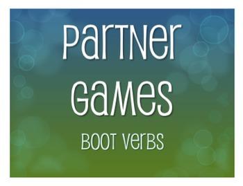 Spanish Boot Verb Partner Games
