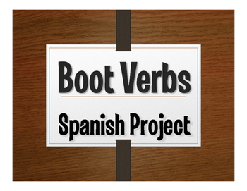 Spanish Boot Verb Project:  Homenajes